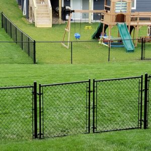 Black Vinyl Double Drive Chain link Gate