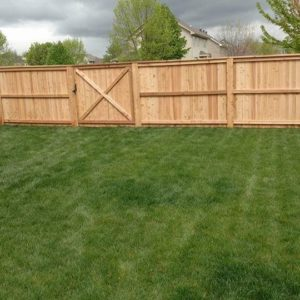 Privacy fence with top cap